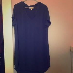 Blue Cloth + Stone Dress Anthropologie